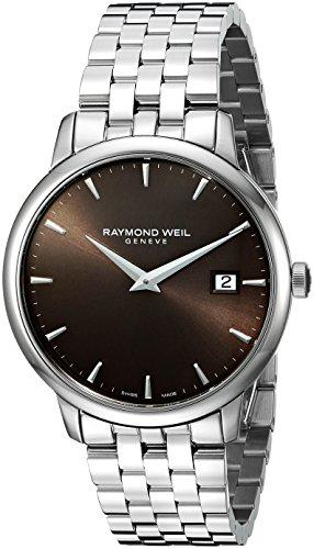 Raymond Weil Armband Edelstahl Gehaeuse Schweizer Quarz Zifferblatt Braun 5488 ST 70001