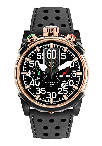 CT Scuderia Herren CS10103 Analog Ronda Swiss Made Schwarz Silikon Armbanduhr by CT Scuderia