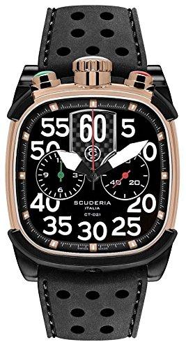 CT Scuderia Herren Armbanduhr Scrambler Chronograph Analog Silikon Schwarz CS70103