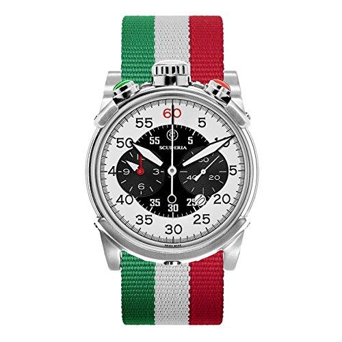 CT Scuderia Herren Armbanduhr 44mm Armband Nylon Multicolor Gehaeuse Edelstahl Schweizer Quarz CS10172