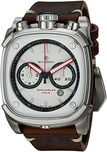 CT Scuderia Armband Leder Braun Gehaeuse Edelstahl Saphirglas Schweizer Quarz CS70107