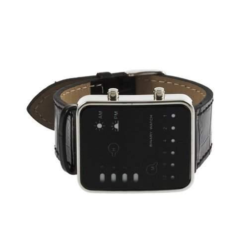 TOOGOO R Mode Frauen Maenner rot LED Digital-Handgelenk-Sport-Uhr Armbanduhr PU-Leder