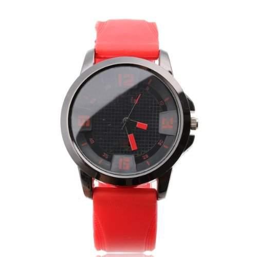 TOOGOOR Silikon Armbanduhr Herrenuhr Damenuhr Sportuhr Quarzuhr Quarz Uhr Rot+Schwarz