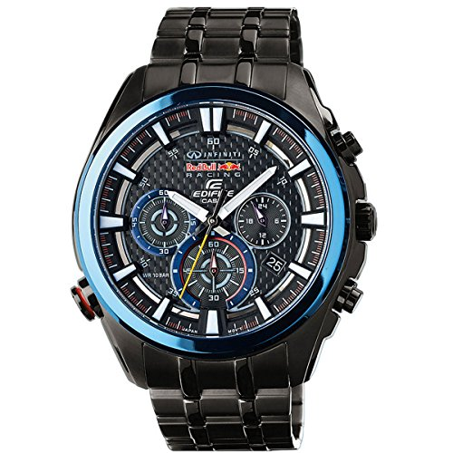 Casio XL Edifice Red Bull Racing Collection Chronograph Quarz Edelstahl EFR 537RBK 1AER