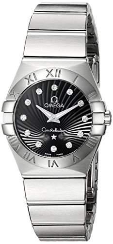 Omega Damen-Armbanduhr Analog Quarz Edelstahl 12310246051001