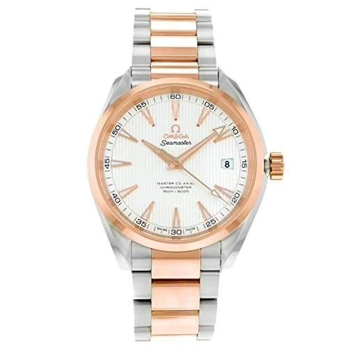 Omega Aqua Terra 23120422102001 Steel & Rose Gold Automatic Mens Watch