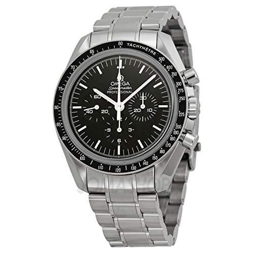 Omega Omega Speedmaster Professional Mond Chronograph Schwarz Zifferblatt Edelstahl Stahl Mens Watch 31130423001006