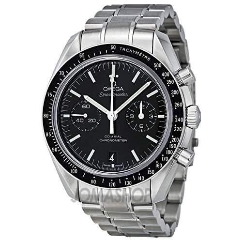 Omega Omega Speedmaster Mond Schwarz Zifferblatt Edelstahl Stahl Mens Watch 31130445101002
