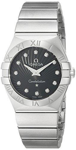 Omega Damen Armbanduhr Analog Quarz Edelstahl 12310276051001