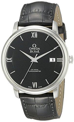 Omega Herren Armbanduhr Analog Automatik Leder 42413402001001