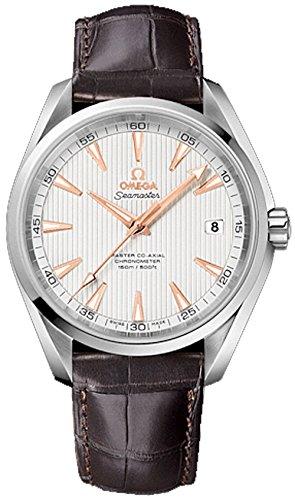 Omega Herren Armbanduhr Omega Seamaster Aqua Terra 150m Co Axial Mens Watch Analog Automatik Leder Braun 23113422102003