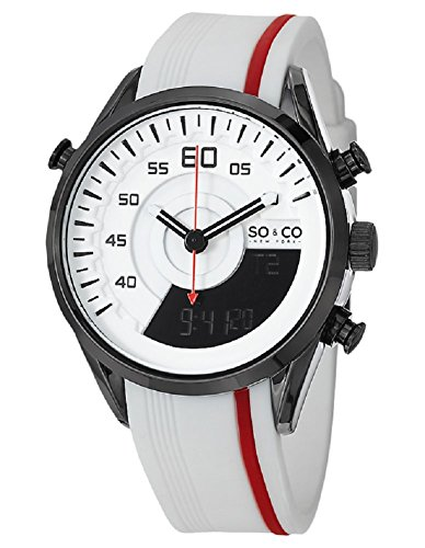 So Co New York Soho Men Armbanduhr Analog Digital Silikon 5044 1 Weiss