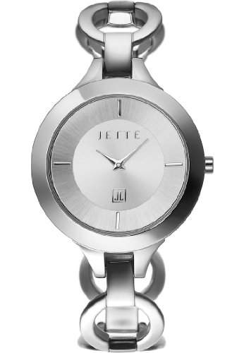 JETTE Time Damen-Armbanduhr Impression Analog Quarz One Size, silber, silber