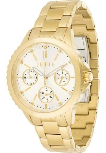 JETTE Time Damen-Armbanduhr Prime time Analog Quarz One Size, gold, gold