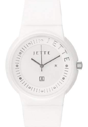 JETTE Time Damen-Armbanduhr Keramik Analog Quarz One Size, weiss, weiss