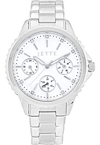 JETTE Time Damen-Armbanduhr Analog Quarz One Size, silberfarben, silber