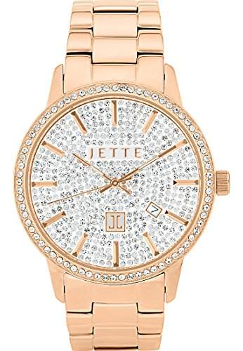 JETTE Time Damen-Armbanduhr REFLEKTION Analog Quarz One Size, weiss, roségold
