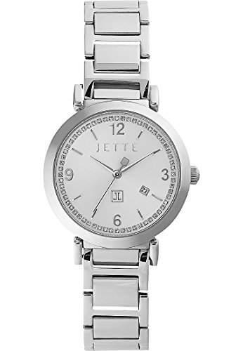JETTE Time Damen-Armbanduhr DIVA Analog Quarz One Size, silberfarben, silber