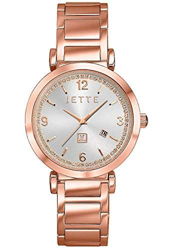 JETTE Time Damen-Armbanduhr Analog Quarz One Size, silber, rosé