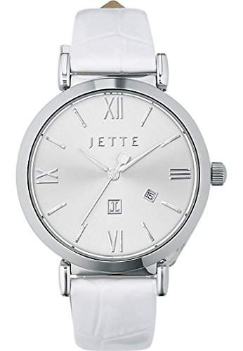 JETTE Time Damen-Armbanduhr Analog Quarz One Size, silberfarben, weiss