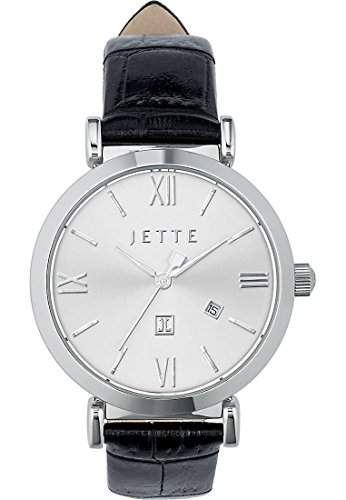 JETTE Time Damen-Armbanduhr Analog Quarz One Size, silberfarben, schwarz