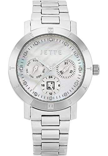 JETTE Time Damen-Armbanduhr Destination Analog Quarz One Size, perlmutt, silber
