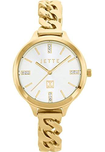 JETTE Time Damen-Armbanduhr Analog Quarz One Size, silber, gold
