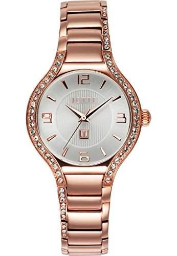 JETTE Time Damen-Armbanduhr Analog Quarz One Size, silber, rosésilber
