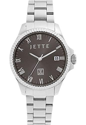 JETTE Time Damen-Armbanduhr Analog Quarz One Size, grau, silberanthrazitgrau