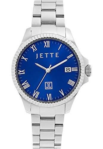 JETTE Time Damen-Armbanduhr Analog Quarz One Size, blau, silberblau