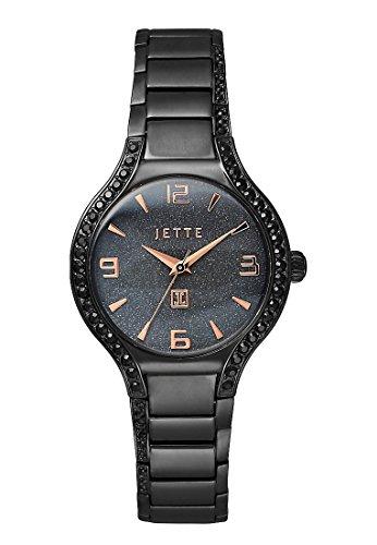 JETTE Time Damen Armbanduhr Analog Quarz One Size schwarz schwarz