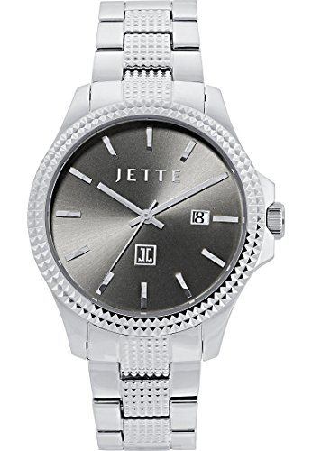 JETTE Time Damen Armbanduhr Time Analog Quarz One Size grau silber