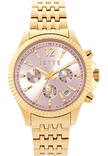 JETTE Time Damen Armbanduhr Crossroad Analog Quarz One Size rosa gold rosa