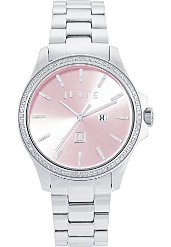 JETTE Time Dreamlike Analog Quarz One Size rosa silber rosa