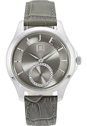 JETTE Time Pleasure Edelstahl Leder Analog Quarz One Size grau grau