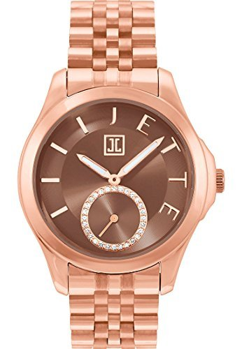 JETTE Time Damen Armbanduhr Pleasure Edelstahl Analog Quarz One Size taupe rose