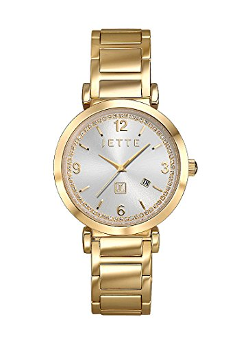 JETTE Time DIVA Analog Quarz One Size silberfarben gold