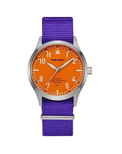 Pop-Pilot Unisex-Armbanduhr BKK Analog Quarz Nylon P4260362630024