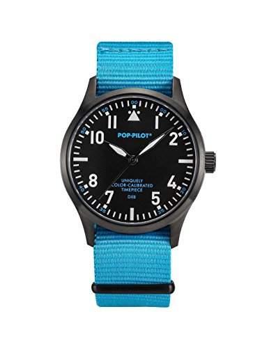Pop-Pilot Unisex-Armbanduhr DXB Analog Quarz Nylon P4260362631069
