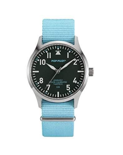 Pop-Pilot Unisex-Armbanduhr GIB Analog Quarz Nylon P4260362630079