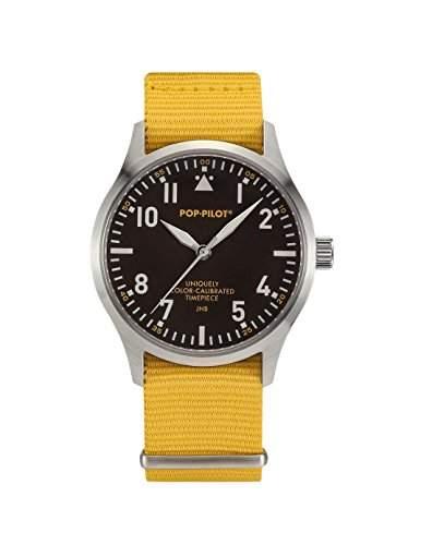 Pop-Pilot Unisex-Armbanduhr JNB Analog Quarz Nylon P4260362631045