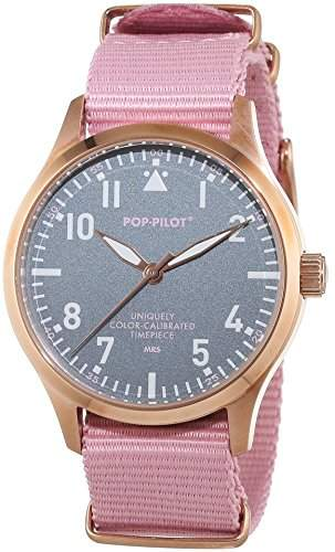 Pop-Pilot Unisex-Armbanduhr MRS Analog Quarz Nylon P4260362631126