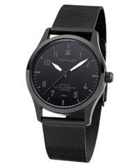 POP PILOT KTM I schwarze Fliegeruhr Uhr mit milanaise Armband I wasserfest I 36 5mm I Damen Herren