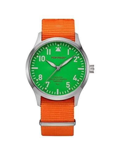Pop-Pilot Unisex-Armbanduhr PUJ Analog Quarz Nylon P4260362630048