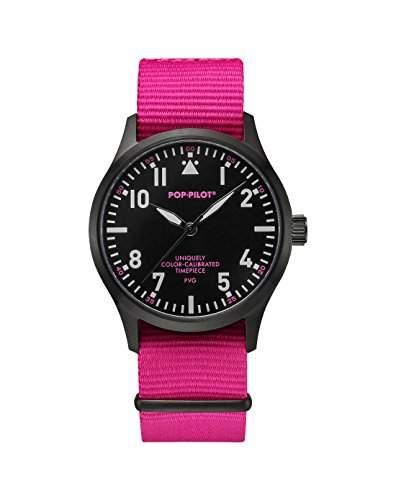 Pop-Pilot Unisex-Armbanduhr PVG Analog Quarz Nylon P4260362631076