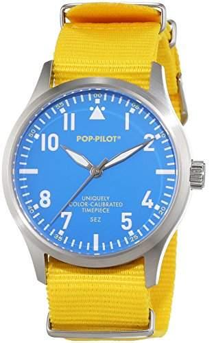 Pop-Pilot Unisex-Armbanduhr SEZ Analog Quarz Nylon P4260362630017