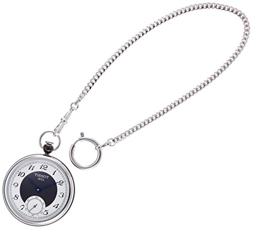 Armbanduhr Tissot Bridgeport t8604052903200 mechanisch Stahl Quandrante Silber