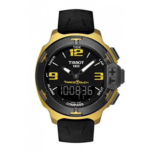 Armbanduhr Tissot Race Touch t0814209705707 Quarz Batterie Aluminium Quandrante schwarz Armband Silikon