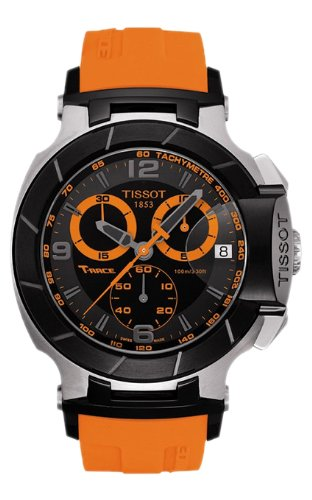 Herren Armbanduhr Tissot T0484172705704 t race t race Analog Chronograph Schwarz Zifferblatt Ora