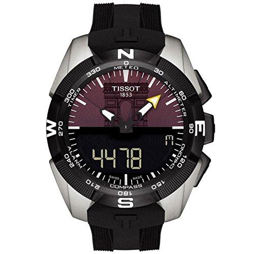Armbanduhr Tissot T Touch Expert Solar t0914204705102 Solar Titan Quandrante violett Armband Gummiarmband